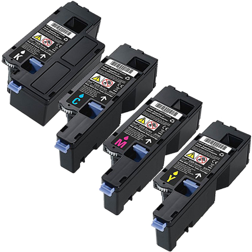 4 pack toner cartridge set for dell e525w e525 593 bbjx high yield ebay. Black Bedroom Furniture Sets. Home Design Ideas